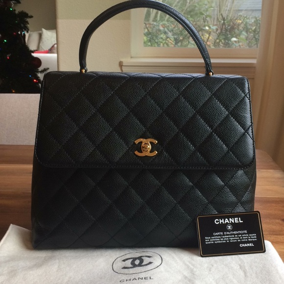 85d3da329bad CHANEL Handbags - Chanel Jumbo Caviar Coco handle Kelly Flap Bag